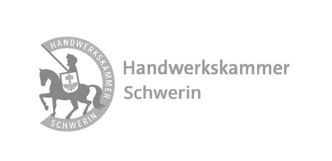 Auf diesem Bild ist das Logo der Handwerkskammer Schwerin zu sehen