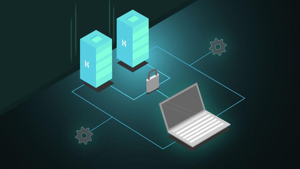 Auf diesem Bild ist ein IT - Netzwerk abgebildet