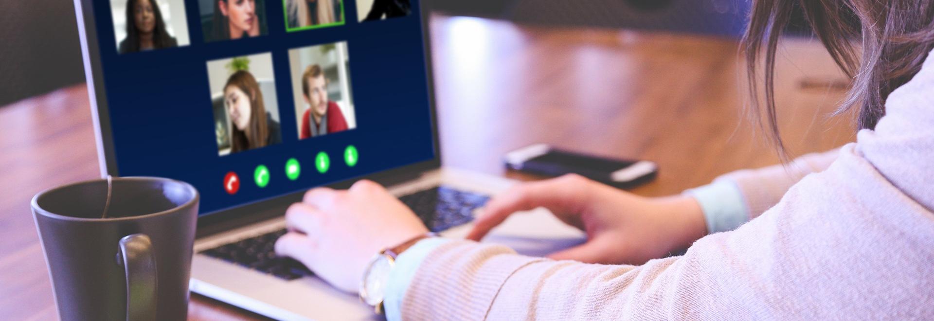 Hindergrundbild mit Videoconferenz