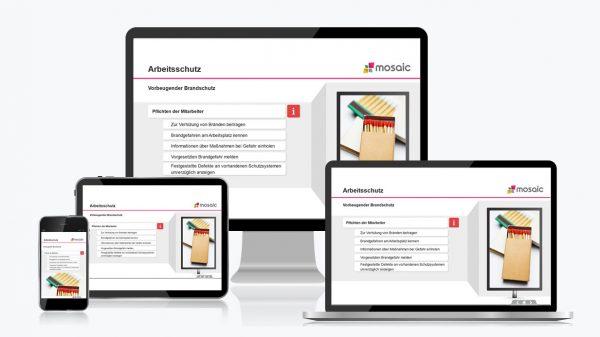 Online Unterweisungen auf Tablet, Smartphone, Laptop und PC